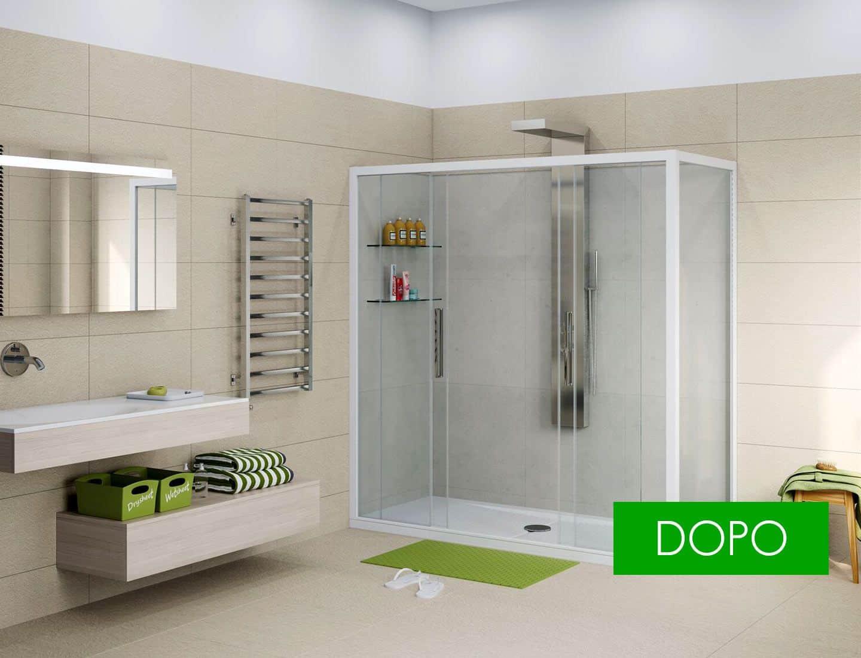 Soluzione diana trasformazione vasca in doccia
