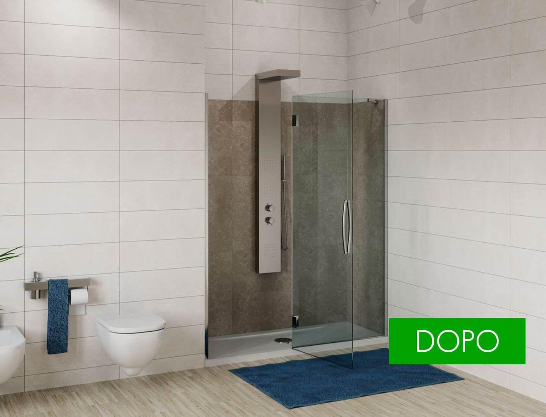 Soluzione artemide trasformazione vasca in doccia